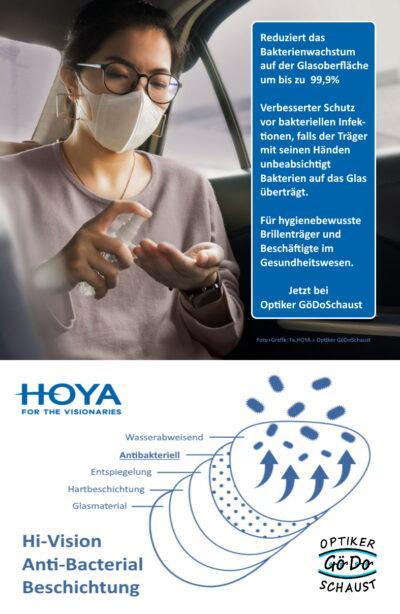 Hoya Anti-Bacterial Beschichtung